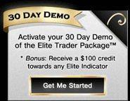 Activate your Demo of the Elite Indicators and receive a $100 credit!